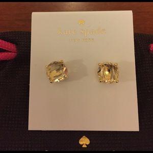 NWT Kate Spade Clear Earrings