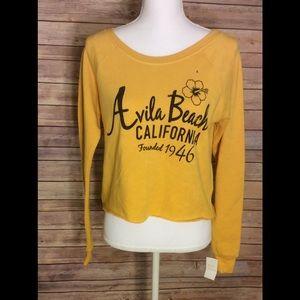 Avila beach California yellow crop sweater