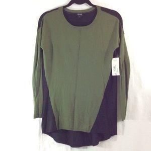 a.n.a Tops - NWT A.n.a. Olive green and black tunic top