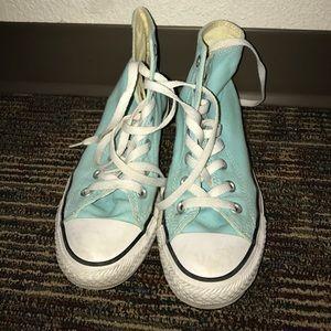 Converse Shoes - Light blue high top converse