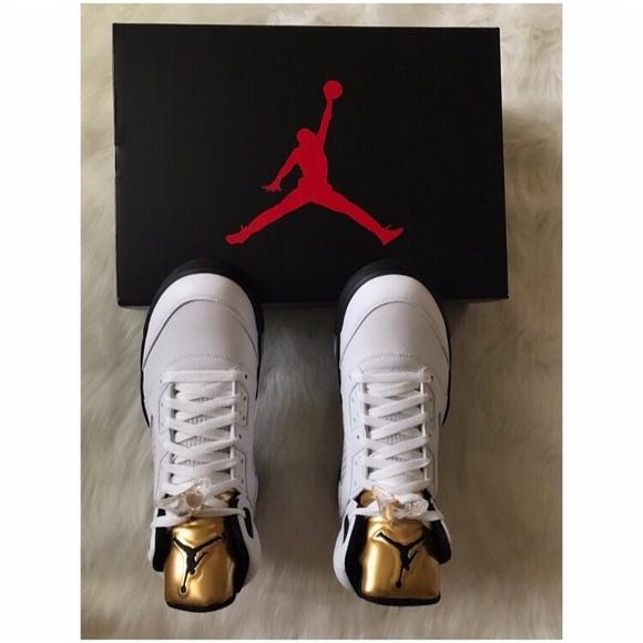 8dc69519fe3 Nike Shoes   Air Jordan 5 Retro Olympic Gold   Poshmark