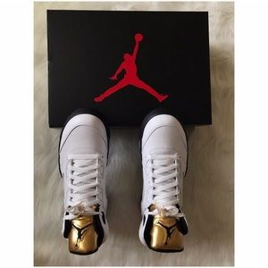Nike Other - AIR JORDAN 5 RETRO OLYMPIC GOLD SHOES