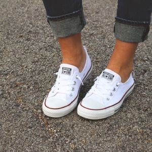 Converse Shoes   Womens White Shoreline