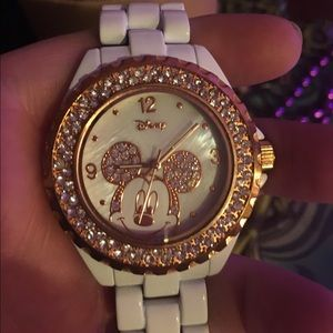 Disney watch white with rose gold