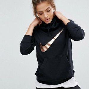 Nike Tops - • Rose Gold & Black Nike Hoodie