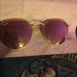 Ray ban Rose gold sunglasses