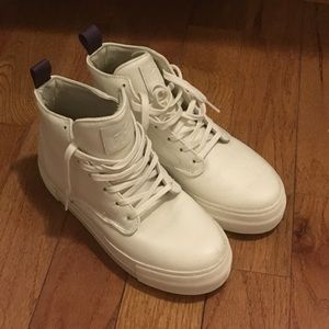 Eytys Shoes - EYTYS WHITE HI-TOP SNEAKERS ~ LEATHER ~US7.5/EU38