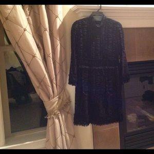 Anna Sui Dresses & Skirts - Anna Sui black lace dress size 2