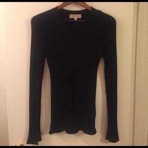 Philosophy long sleeve black knit top