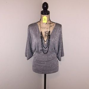 Belldini Tops - Belldini SILVER shimmer blouse