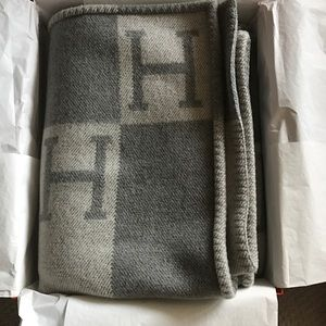 Hermes Other - Hermes Light Gray Avalon Blanket