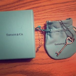 Tiffany & Co Key to My Heart Pendant and Chain