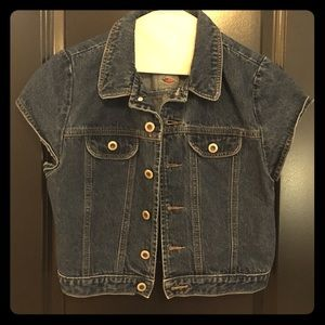 Vintage cropped denim jacket