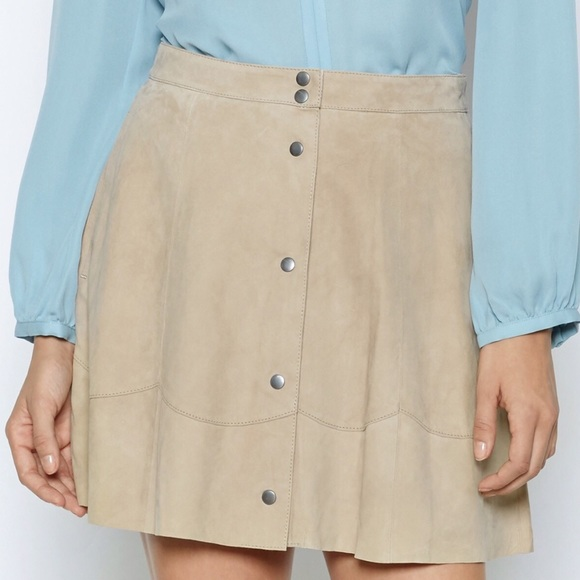Joie Skirts - • Joie khaki suede button down skirt size 12•