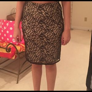 Dresses & Skirts - Cute!!! Ann Taylor Black Lace Overlay Skirt