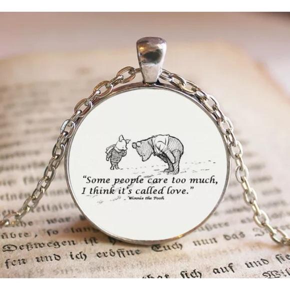 Winnie The Pooh & Piglet Quote Necklace Boutique