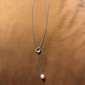 Tiffany & Co Elsa Peretti ❤️/pearl lariat necklace