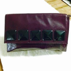 Deux Lux Handbags - Deep Plum Clutch
