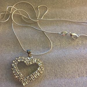 Jewelry - Sterling Silver stamped 925 Chain Heart 18WG