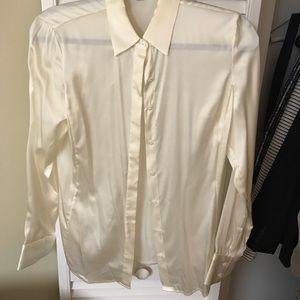 Anne Taylor Silk Dress Shirt