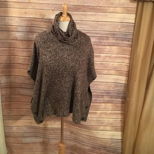 Maurices Sweaters - Brown and white poncho. Maurice's size medium