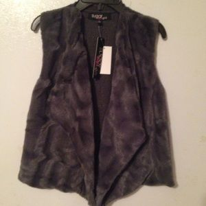 """Sugar Rush Other - Girls """" Sugar Rush""""size L knit and fur vest."""