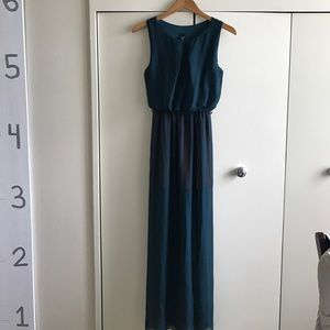 WINDSOR Dresses & Skirts - Dark green and mustard orange long dress