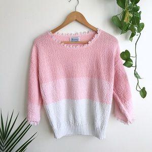 vintage pink ruffle top