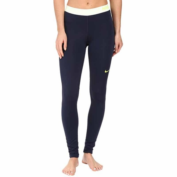 af1cc524084290 Nike Pants | Pro Warm Tights Legging Navy Blue | Poshmark