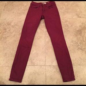 Maroon bullhead pants