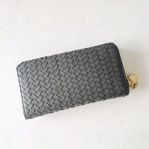 {deux lux} 🌿 vegan woven leather wallet