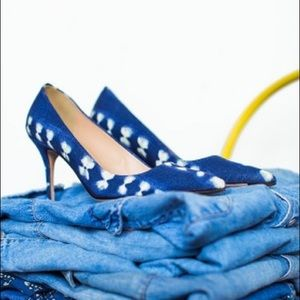 J.Crew Denim Pumps Heels NIBMADE IN ITALY