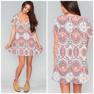 Show me your MuMu Kylie Mini Dress Floral Paisley