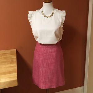 Classic Talbots pencil skirt - pink. Size 14P