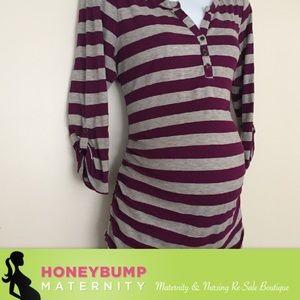 Motherhood Maternity Tops - Maternity Henley top size large