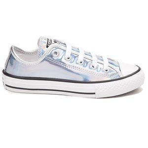 Converse Other - Converse Size 3 Iridescent shoes metallic silver