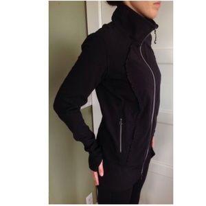 lululemon athletica Jackets & Blazers - Lululemon Nice Asana Ruffle Jacket