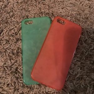 Accessories - Pink and Green IPhone 5/5s cases