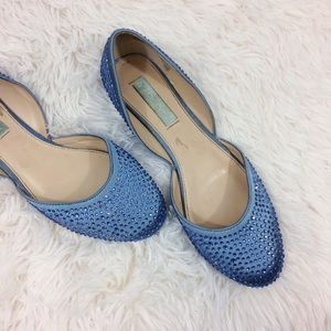 Betsey Johnson Shoes - BETSY JOHNSON blue Jane bejeweled d'Orsay flats