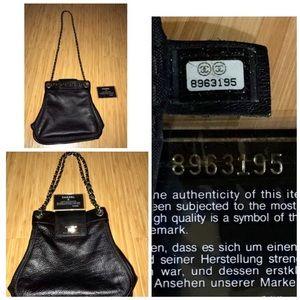 CHANEL Handbags - Chanel Crossbody Bag Ahthentic Silver Metal Strap