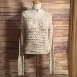 Hollister Sweaters - Cream knitted sweater. Hollister size medium
