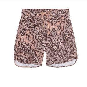 Zimmermann Pants - Zimmermann Paisley Board Shorts