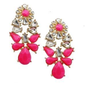 T&J Designs Jewelry - LAST PAIR Pink Droplet Earrings