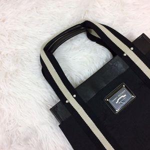 TOMMY HILFIGER black+beige mini handbag