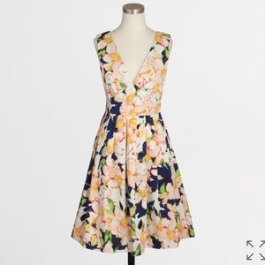 J. Crew Factory Sateen V-neck Dress in Floral