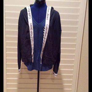 Calvin Klein Jeans Jackets & Blazers - Navy knit lightweight jacket