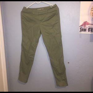light olive green pixie pants