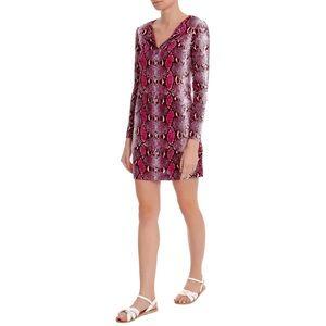 Diane von Furstenberg Dresses & Skirts - Diane von Furstenberg Reina L/S Purple Mini Dress