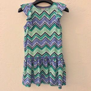 Gymboree Other - NWOT Girls Gymboree Short Sleeve Chevron Dress