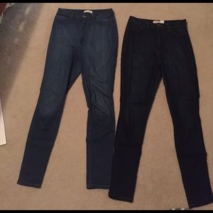 Denim - Two pair high waisted jeans